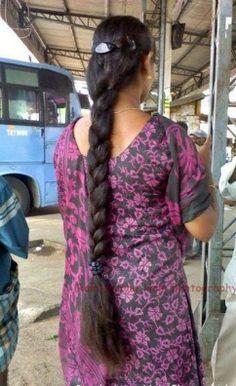 Indian Long Hair Braid, Long Hair Ponytail, Bun Hairstyles For Long Hair, Braids For Long Hair, Indian Hairstyles, Braided Hairstyles, Beautiful Braids, Beautiful Long Hair, Beautiful Women