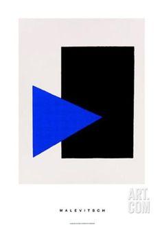 Art.fr - Sérigraphie 'Black Rectangle, Blue Triangle, c.1915' par Kasimir Malevich