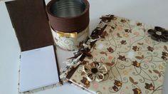 kit escritório: caderno, porta canetas