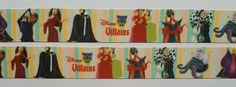 """6 Yards 1"""" Disney Villains  Inspired  Grosgrain Ribbon #Unbranded"""