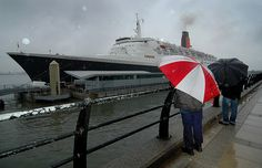 This shot was taken on QE2 last visit to Liverpool. It was pouring with rain and i wished I had an umbrella..?