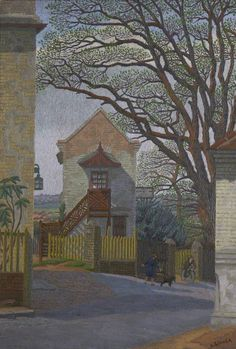 charles ginner(1878–1952), spaniard's corner, c.1920. oil on canvas, 67.2 x 49.8 cm. plymouth city council: museum and art gallery, uk http://www.bbc.co.uk/arts/yourpaintings/paintings/spaniards-corner