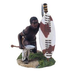 Zulu Warrior Croutched No.1 Zulu War, 54mm Model Soldiers W. Britain, William Britain or simply Britains #toys #soldier #toysoldiers #figures #toycollections #toykids