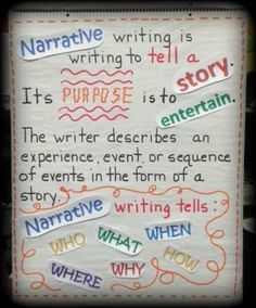 ...second grade... anchor chart for narrative writing...