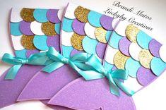 Mermaid InvitationsMermaid invitation mermaid by LuckyByCreations