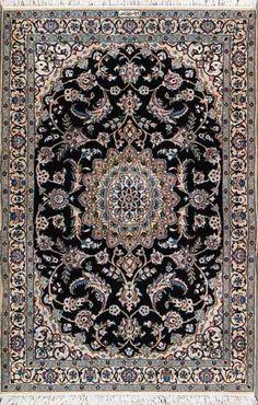 """Nain Persian Rug, Buy Handmade Nain Persian Rug 3' 7"""" x 5' 9"""", Authentic Persian Rug"""