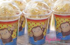 Curious George Birthday Party Cups-Popcorn Box-Set of 8 on Etsy, $12.40