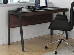 Designed for smaller spaces - yet full of innovative features - this compact desk includes a keyboard drawer and integrated cable management, and is ideal for use as a convenient laptop desk. This highly durable tempered glass has an unbelievably soft finish that provides protection from dings, scratches, and even fingerprints, A modesty panel complements seated use, allows the 6903 to float in a room, and helps to keep wiring neatly concealed. Office Furniture, Office Desk, Secretary Desks, Laptop Desk, Small Spaces, Drawers, Modern, Room, Design