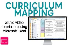 Curriculum maps give your pacing for the year ensuring standards mastery. This post walks through curriculum mapping with a video tutorial on using Excel. Curriculum Design, Curriculum Mapping, Curriculum Planning, Lesson Planning, Teacher Education, Music Education, Teacher Resources, Special Education, Map Math