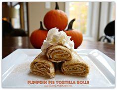 Pumpkin Pie Tortilla Rolls | SweetLittleBluebird.com