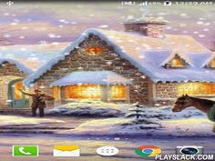 Hand-painted: Snowflake  Android App - playslack.com , Hand-painted: Snowflake -enjoy pretty images of winter sceneries. Live wallpapers are finished  with descending  crystals, have power saving mode and easy settings.