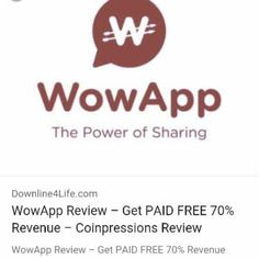 Bergabung dengan saya gratis di WowApp untuk menghasilkan, berbagi dan membuat perbedaan!