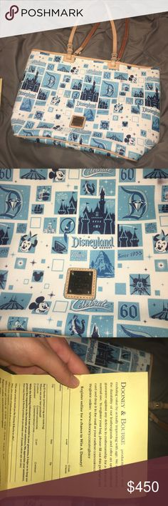 Dooney & Bourke Limited edition Disneyland 60th anniversary Dooney & Bourke Bag . Good condition . Certificate of authenticity included . Rip can be repaired for cheap. Dooney & Bourke Bags Totes