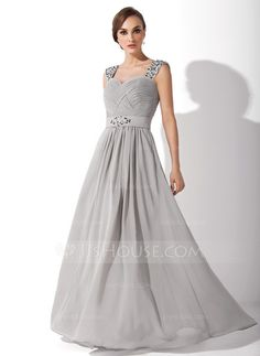 A-Line/Princess Sweetheart Floor-Length Chiffon Mother of the Bride Dress With Ruffle Beading (008006313)
