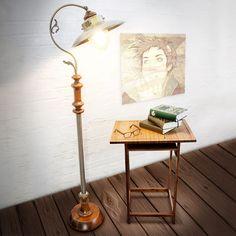 Lampe Stehlampe Deckenfluter Industrial Design Jugendstil höhenverstellbar