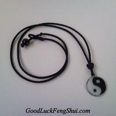 Yin Yang Pendant Necklace - https://twitter.com/GoodLuckFengShu/status/552902790758932482