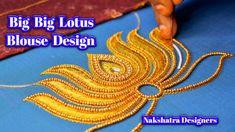 Big Lotus Flower Design In Simple Blouse Work For Aari Embroidery   Naks... Aari Embroidery, Hand Embroidery Designs, Lotus Flower Design, Dear Friend, Simple Designs, Blouse Designs, Designers, Big, Youtube