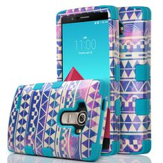 Amazon.com: LG G4 Case, G4 Case, ULAK 3in1 Hybrid Shockproof Rubber of Drop Protection Case Cover [Hard Plactic Shell and Soft Silicone Skin] Shock-Absorption Resistant Bumper Fashion for LG G4 (Sea spray-Blue): Cell Phones & Accessories