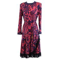 1980's Averardo Bessi Silk Dress