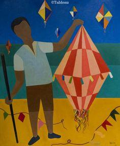 Djanira. Menino com Balão. 74x60 cm