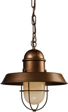 "0-125348>12""""w Farmhouse 1-Light Pendant Bellwether Copper"