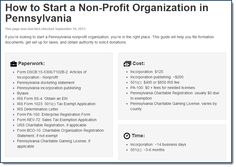 How to Start a Non-Profit Organization in Pennsylvania: paperwork, cost, and time. http://localhost/information/how-to-start-a-non-profit-organization-in-pennsylvania.php