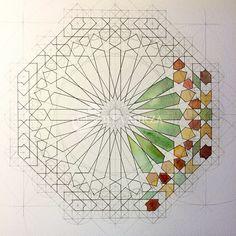 Geometric Mandala, Geometric Drawing, Mandala Design, Mandala Art, Islamic Art Pattern, Pattern Art, Motifs Islamiques, Motif Oriental, Islamic Art Calligraphy