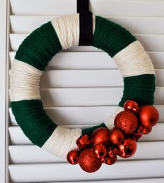 Love this - Maybe White and Red with Green Ornaments?