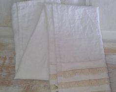 Linen Bath Towel, Body Towel, Bath Towel, Ruffled Towel, Linen Towel, Vintage Look Towel, Bathroom Decor, Eco-friendly Towel, Gift Towel
