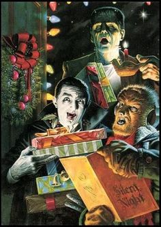 horror christmas | Beast Wishes and Happy Horrordays! | Classic Horror Campaign