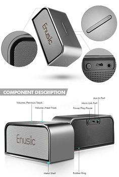 Enusic™ 003 Wireless Super Bass Stereo Bluetooth CSR4.0 Speaker Music Sound Box For iPhone Smartphone Tablet Sale - Banggood.com