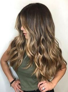 Trendy Hair Highlights : Gorgeous long brunette hair with rich blonde balayage hair color scorpioscowl. Hair Color Balayage, Hair Highlights, Bayalage Color, Color Highlights, Sun Kissed Highlights, Hair Colour, Caramel Highlights, Brown Hair With Golden Highlights, Highlights For Brunettes