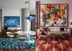 Kyle Bunting makes amazing high-end hide rugs that are pieced together individually then affixed permanenty to a hide backing. #decor #design #rug