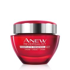 Anew Reversalist Complete Renewal Night Cream. Anew Reversalist Complete Renewal Night Cream works best while you rest! It comes with the added benefits of restoring the look and feel of firm, youthful skin. 96% of women stated that their skin regained its youthful quality in just one week*! Use this 1.7 oz. jar of night face cream before sleep and awaken with renewed, refreshed and restored skin.