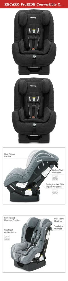 RECARO ProRIDE Convertible Car Seat , Sable. The ProRIDE is a premium convertible seat designed to offer your most precious passengers the safety you demand and the comfort they need. Your child will ride in comfort and optimal safety with this convertible car seat. The Side Impact Protection (SIP) is designed to distinctly protect five vulnerable areas of a child, head, neck, face, pelvis and torso. The easy adjust, soft touch head restraint is padded with real automotive PUR foam and...