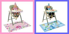 1ST FIRST BIRTHDAY PARTY HIGH CHAIR KIT BOY TURTLE GIRL LADYBUG HAT BANNER ETC