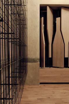 RED Pif Restaurant & Wine Shop by Aulik Fiser Architekti // Prague.