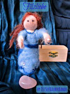 Kleine gefilzte Winterfee - die Filzliebe geht weiter - Ostseeraeuberbande Familienblog