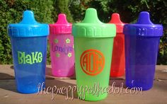 Great IDEA! Monogrammed sippy cups
