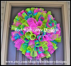 Spring Wreath Valentine's Day Wreath Wreath by RedWithEnvyDesigns