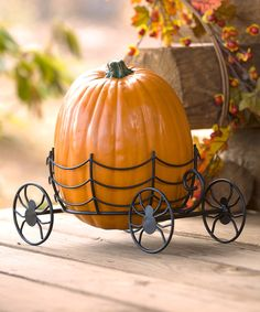 Look at this Halloween Carriage Pumpkin Holder on #zulily today!