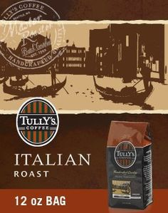 Tullys Italian Roast Whole Bean 12oz Bag Pack of 4 *** Want additional info? Click on the image.
