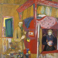 Rosemaleren (Norwegian Peasant Art) - Kai Fjell , 1947 Norwegian, Oil on canvas, 119 x 135 cm Kai, Modern Art, Contemporary, Painting & Drawing, Norway, Trip Advisor, Oil On Canvas, Whimsical, Watercolor
