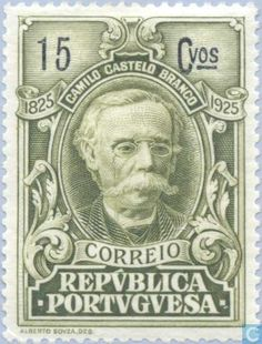 Portugal [PRT] - Castelo-Branco, Camillo 1925 Postage Stamps, Poster, Portuguese Food, Postcards, Europe, Collections, Green, Color, Boys