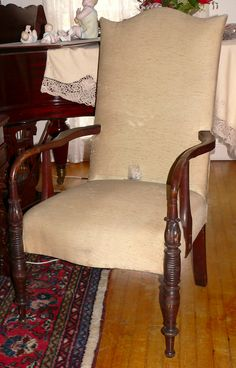 Federal Lolling Chair, Mahogany, Attr Judkins And Senter, Portsmouth, NH. Lolling  Chairs Were The Most Expensive And Desirable Seating Furniture In The And  ...