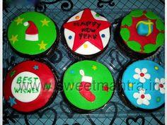 Homemade Eggless Custom Christmas theme cupcakes at Model Colony, Pune