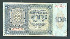 CROATIA 100 Kuna 1941 UNC P2a WWII - NDH - USTASA  http://cgi.ebay.com/ws/eBayISAPI.dll?ViewItem&item=161234810664