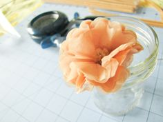 Tiny Tissue Flowers {Tutorial}