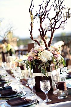 centerpiece with branches