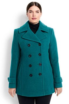 Shop Plus Size Winter Coats at Lands' End. Shop Plus Size Outerwear: Plus Size winter coats, down vests & jackets. Plus Size Outerwear, Plus Size Coats, Plus Size Fashion For Women, Plus Size Women, Winter Coats Women, Coats For Women, Plus Size Peacoat, Architecture Design, Plus Zise